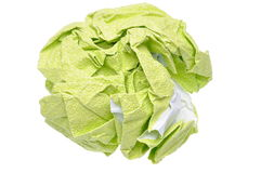 Crumpled green paper Royalty Free Stock Image