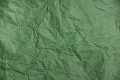 Crumpled green paper texture Stock Photography