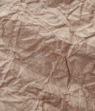 Crumpled ha riciclato la struttura di carta del fondo Carta d'annata del mestiere Immagini Stock
