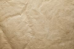 Crumpled handmade paper sheet royalty free stock image