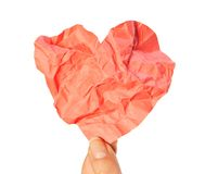 Crumpled heart Royalty Free Stock Photography