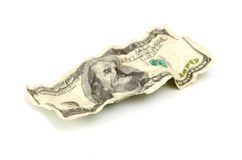 Crumpled hundred dollar Stock Photos