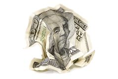 Free Crumpled Hundred-dollar Banknote Royalty Free Stock Image - 139711726