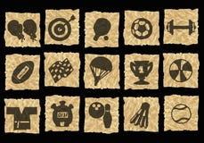 crumpled icons paper Στοκ φωτογραφίες με δικαίωμα ελεύθερης χρήσης