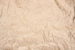 Crumpled kraft paper. As background Stock Image