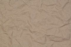 Crumpled kraft paper with blotches Royalty Free Stock Photography