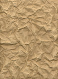 Crumpled kraft paper Royalty Free Stock Image