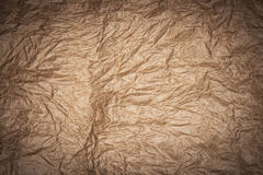 Crumpled kraft paper. Texture or background stock photos