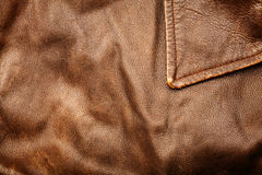 Crumpled leather background Royalty Free Stock Photography