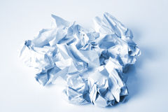 Crumpled letter paper Royalty Free Stock Photography