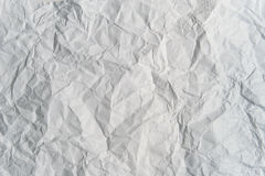 Crumpled light gray paper. (as a background Stock Photo
