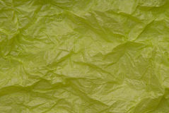 Crumpled light-green paper Royalty Free Stock Photos