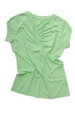 Crumpled light green sports shirt Royalty Free Stock Images