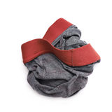 Crumpled male underpants. Over the white background Royalty Free Stock Image