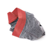 Crumpled male underpants. Over the white background Stock Photography