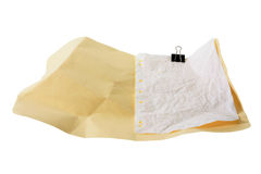 Crumpled Manila Folder Royalty Free Stock Images
