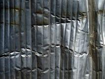 Crumpled metal background. Stock Photo