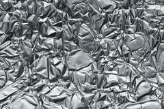 Crumpled metal foil Royalty Free Stock Image