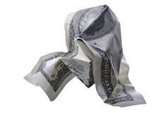 Crumpled monetary denomination Stock Photo