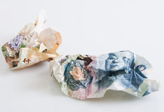 Crumpled Money Royalty Free Stock Photos