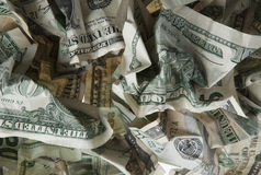 Crumpled  money Stock Photos