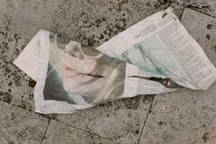 Crumpled newspaper Royalty Free Stock Photography