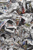 Crumpled Newspapers Royalty Free Stock Photos