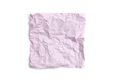 Crumpled note paper Stock Photography