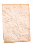 Crumpled old and dirt paper on white background Royalty Free Stock Image
