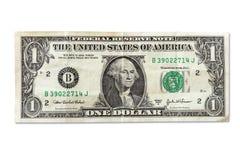 Crumpled one dollar. Stock Photos
