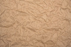 Crumpled packaging brown paper as background Royalty Free Stock Photography