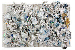 Crumpled pages of the scientific magazine Stock Photos
