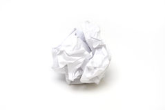 Crumpled Paper. A piece of crumpled paper in the form of a ball royalty free stock photo
