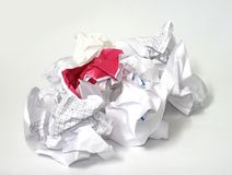 Crumpled paper Stock Image