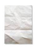 Crumpled paper. On white background stock photo