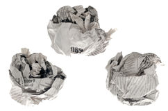 Crumpled paper Stock Photography