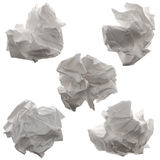Crumpled paper. Isolated on white background royalty free stock images