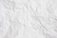 Crumpled paper. Detail for background use Stock Image