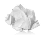 Crumpled paper. On a white background royalty free stock image