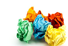 Crumpled paper. Royalty Free Stock Images