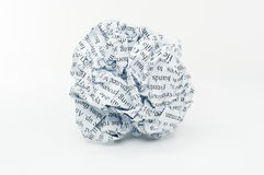 Crumpled paper. Stock Photo