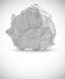 Crumpled paper. On white Stock Image