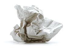 Crumpled paper. Empty crumpled paper closeup background royalty free stock photos