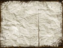Crumpled paper. Abstract grunge background Stock Photo