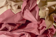 Crumpled paper background Stock Image