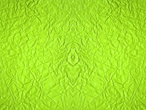 Crumpled paper background in green color Royalty Free Stock Images