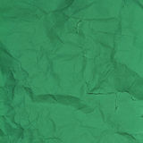 Crumpled  paper background texture green Royalty Free Stock Photo
