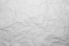 Crumpled paper background. Crumpled white paper texture background Royalty Free Stock Images