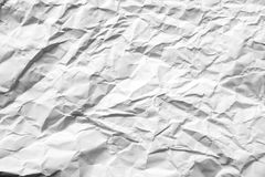 Crumpled paper background. Crumpled white paper texture background Stock Photos