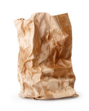 Crumpled paper bag with grease spots Stock Image